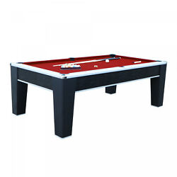 Game Room Pool Table - 7.5ft - K818 Bumper Cushions - Abs Drop Pockets - 78 X 39