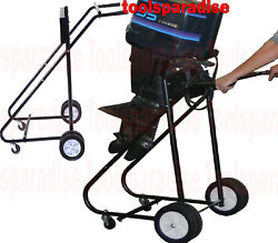 Outboard Boat Trolling Motor Engine Rack Carrier Stand Marine Shop Hand Truck
