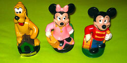 Pluto Mickey And Minnie Mouse Walt Disney Productions Coin Piggy Banks Movable Arm