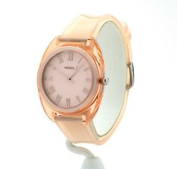Fossil Women#x27;s Jude Peach Silicone Watch ES4856 New $57.99
