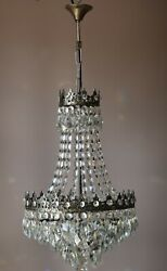 Antique French Empire Vintage Crystal Chandelier Home Decoration Lighting Lamp