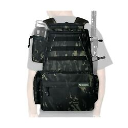 Rodeel Fishing Tackle Backpack 2 Fishing Rod Holders Without 4 Tackle Boxesl...