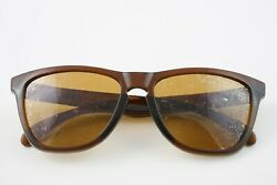 24 303 Worn Oakley Frogskins Polished Rootbeer Bronze Sunglasses 55 17 $49.00