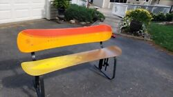 Snowboarders Collectorand039s Item/one Of A Kind/k2 Snowboard Bench