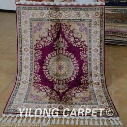 Yilong 3.5and039x5and039 Classic Hand Made Silk Rug Carpet Classic Hand Knotted Rugs 1754