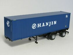 Walthers Promotex Ho 40' Spread-axle Chassis W/ Hanjin Container New