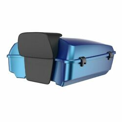 Daytona Blue Chopped Tour Pack Pad For 97-20 Harley Street Road Electra Glide