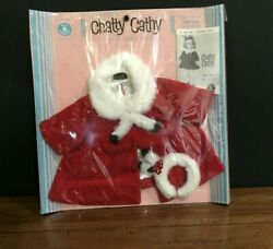 1961 Chatty Cathy Baby Doll Mattel Party Coat Fashion 696 Clothes New Very Rare
