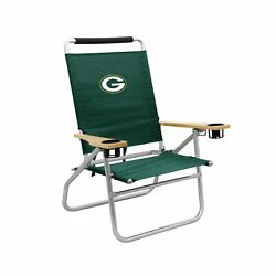 Logo Brands Officially Licensed Nfl Green Bay Packers Unisex Beach Chair, One...
