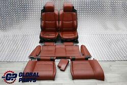 Bmw E93 M3 Convertible Heated Sport Red Leather Interior Seats Electric Memory