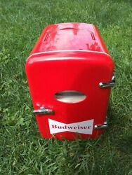 Budweiser Mini Beverage Cooler, 6 Can Capacity