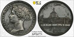France 1862 Medal Queen Victoria Universal Expo A. Bovy Pcgs Au Detail 50 Mm