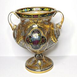 Antique European Glass Vase 19th-20th Century. There Stamped.