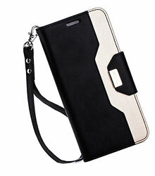 For Galaxy S8 Plus Wallet Case Flip Kickstand Case With Card Slots Mirror
