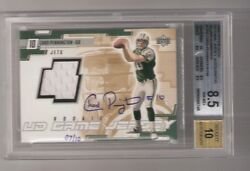 Chad Pennington 2000 Upper Deck Ud Rookie Game Jersey Auto Silver 7/10 Bgs Rare