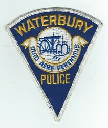 Vintage Waterbury, Connecticut Police Cheese Cloth Back Patch