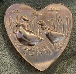 Old Dutch Solid Copper Geese Mold Wall Kitchen French Farmhouse Goose Decor Box