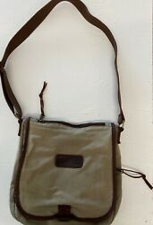Duluth Trading Co. Oil Cloth Sling Bag Cross Shoulder Bag *OLIVE* $45.00