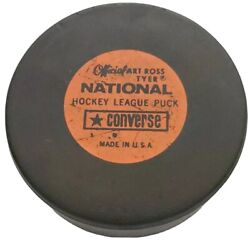 Vintage Official Art Ross Tyer Nhl ⭐ Converse Game Puck Made In The 🇺🇸 Rare