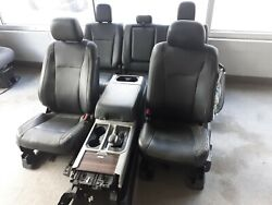 15 Ford F-150 Black Leather Seats And Center Console