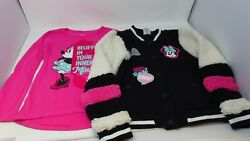 Disney Minnie Junior Girls Mouse Coat And Shirt 100 Real 7/8 Nwt