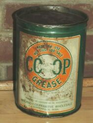 Vintage Co Op Grease Tin Can Midland Copperative Oil Assoc Mpls Mn