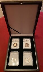 Jfk Collectible 4-pc 50th Anniversary Boxed Coin Set 2014-w Reversespdmintandnbsp