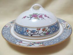 Lenox Ming Bird Round Covered Butter Dish Measure 7 1/4 In Diameter.