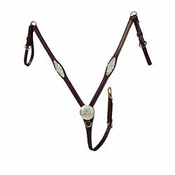 Tory Leather Tory Silver Concho Straight Breast Collar $165.82