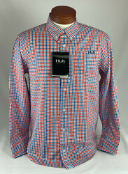 Huk Santiago Long Sleeve, Lasalle Red, Men's Small, H1500031-601-s, New