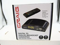 Craig Digital to Analog Broadcast Converter with Remote Control CVD509
