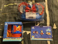 Disney Minnie Mouse Main Attraction August Dumbo Loungefly, Mug And Pins