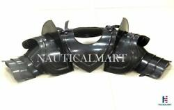 Medieval Gothic Pauldrons With Neck Upper Arm And Shoulder Armor Black