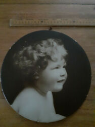 Vintage Valentines Novelty Calendars Circular Wall Plaque Photo Of Child