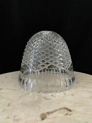 Vintage Glass Bell Shaped Lamp Shade Clear Pressed Glass Lamp Shade