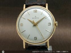 Zenith Center Second 18kyg Cal.106-50-6 Manual Vintage Watch 1940and039s