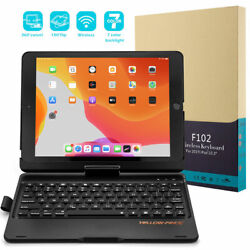 For Ipad 8/7th Gen 10.2/10.5 Rotate Backlit Bluetooth Keyboard Stand Cover Case