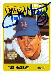 Tug Mcgraw Autographed Baseball Card New York Mets Sc 2001 Topps Archives 247
