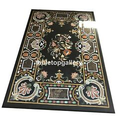 5and039x3and039 Marble Top Counter Table Pietra Dura Mosaic Inlay Art Hallway Decors B087a