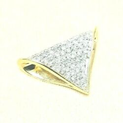 3399 Diamond Slide 2.00 Cts 14k Solid Gold Large And Well Made