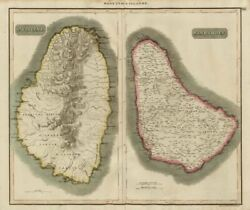 St Vincent And Barbadoes. Barbados. West Indies Caribbean. Thomson 1817 Map