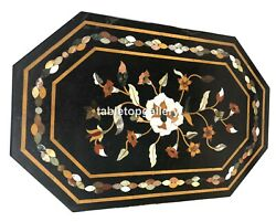 26x52 Marble Dining Table Top Precious Floral Inlay Work Hallway Decors B126c
