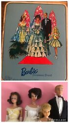 Vintage Barbie The Wedding Party Gift Set 1017 + Travel Cases 1964