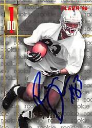 Rickey Dudley Autographed Football Card Ohio State 1996 Fleer Rookie 151