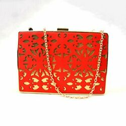 Yamp;S Bridal Clutch Wedding Party Evening Bag Wallet Hand Made Laser Cut Purse $11.99