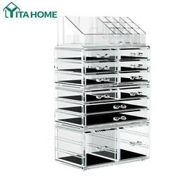 YITAHOME Makeup Organizer Cosmetic Storage Drawers Jewelry Display Box 4 Piece