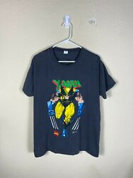Youth OSFA Marvel X Men Wolverine 1992 Black Comic Book Graphic Shirt VTG 90s