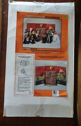 Vintage 1990 Telco Motion-ette Halloween Haunted House Background Display...