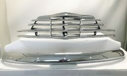 1947 Chevy Car Grille And Front Bumper Original Triple Plated