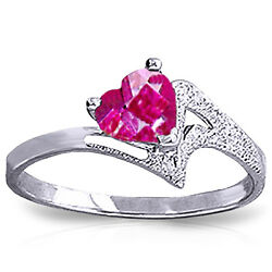 Brand New 0.95 Carat 14k Solid White Gold Master This Pink Topaz Ring